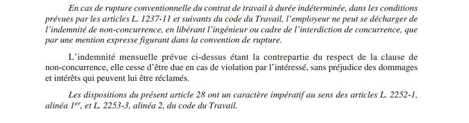 La Clause De Non Concurrence Fo Groupe Safran